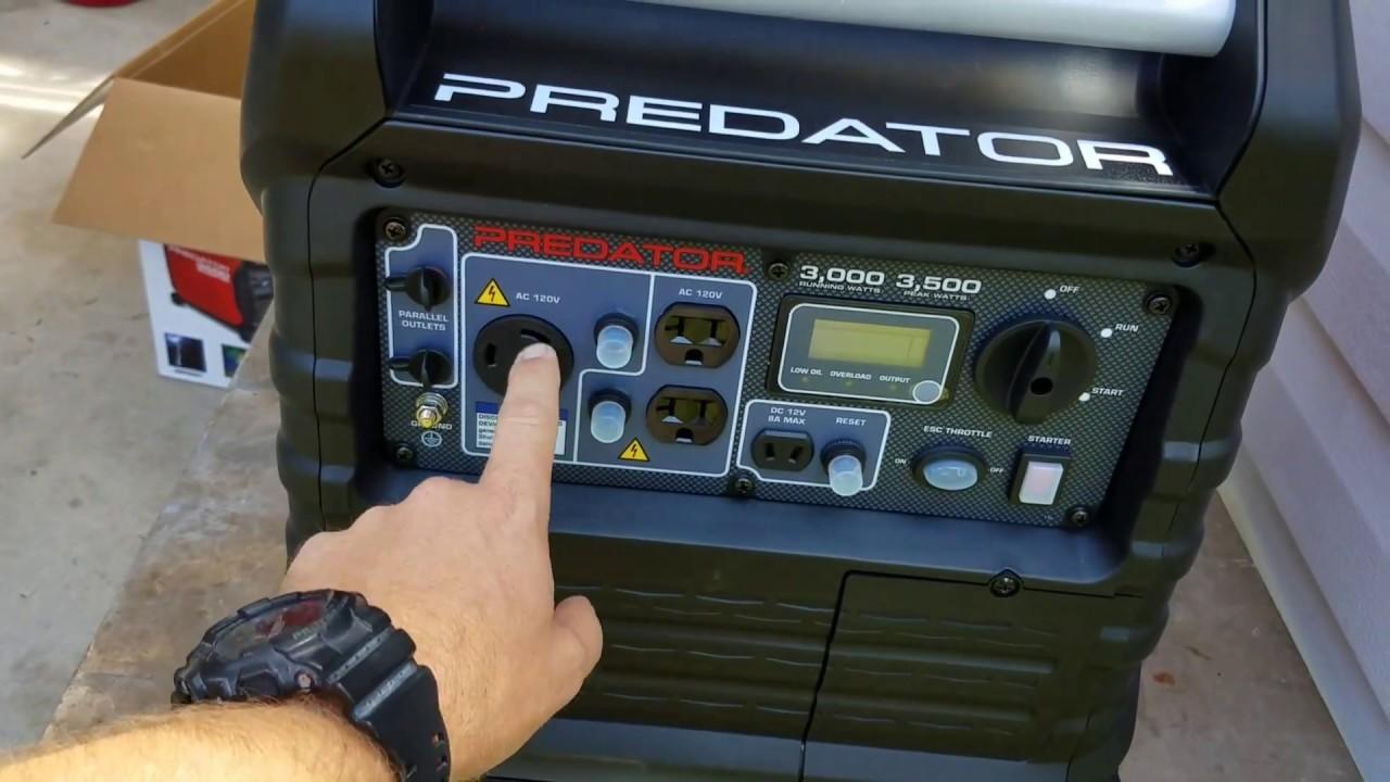 Predator 3500 generator will not start